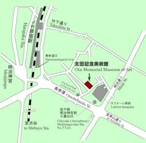原宿 太田記念美術館 地図